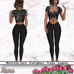 Drawstring Ruched Top and Leggings - Bea
