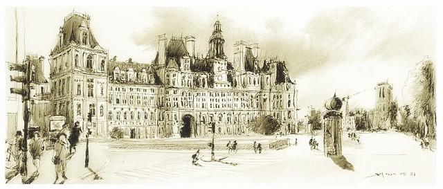 Paris- Hôtel de ville - France