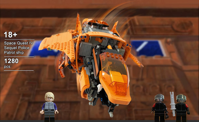 Lego Sequel police patrol ship - box art