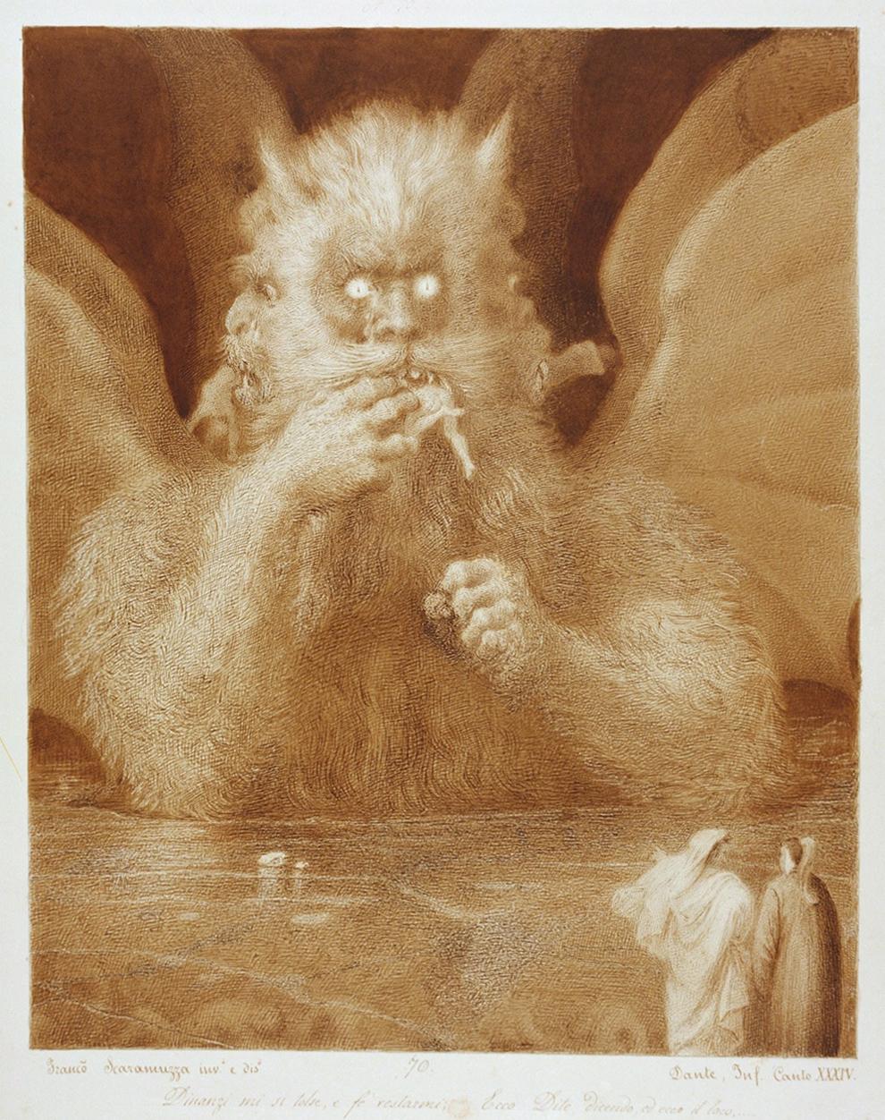 Francesco Scaramuzza - Dante's Inferno, Canto XXXIV, 19th Century