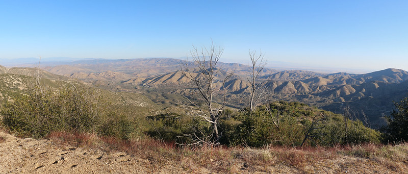 Panorama view north toward Palmdale from Mount Gleason Road