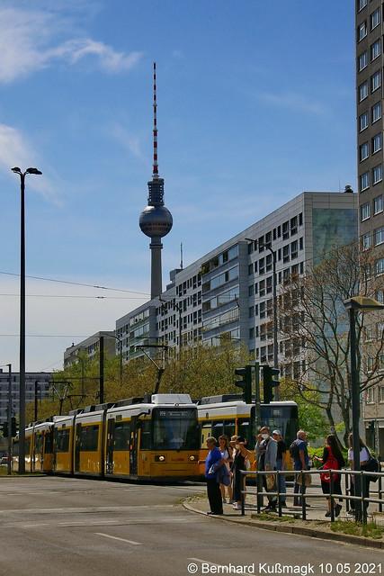 Europa, Deutschland, Berlin, Pankow, Prenzlauer Berg, Otto-Braun-Straße Ecke Am Friedrichshain