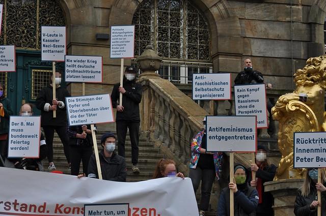 """Demo """"Erinnern, direnç, Sonuçlar"""" 08.05.2021 Kassel"""