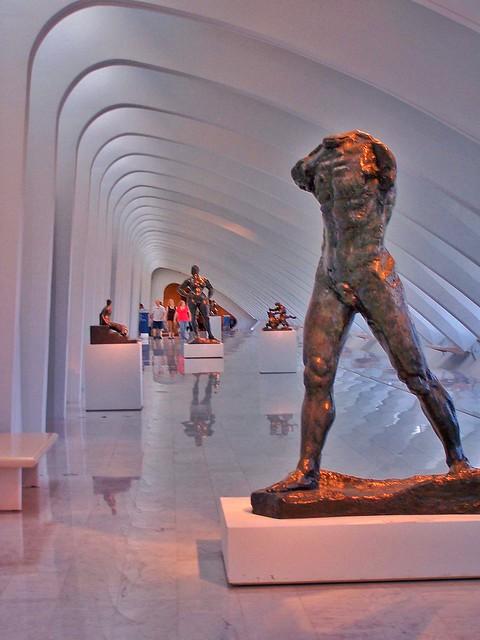 Milwaukee - Wisconsin - The Walking Man by Rodin  1905 - The Milwaukee Art Center