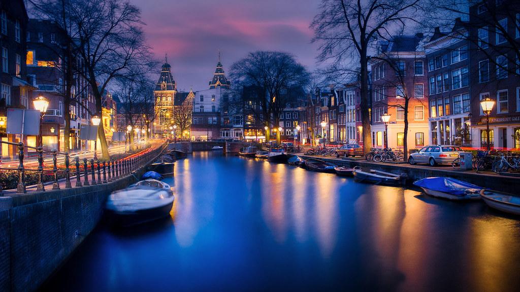 Amsterdam in Blue Hour, Netherlands