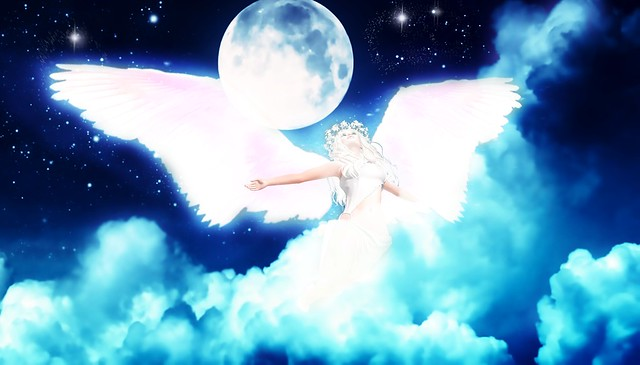 Angel Ascending from the Clouds