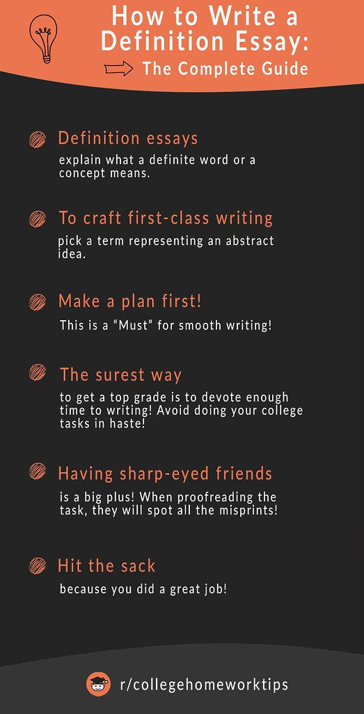 tips on writing a definition essay
