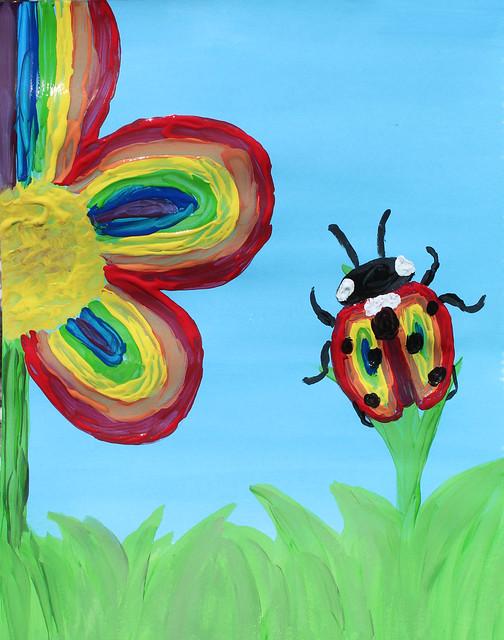 The Rainbow Ladybug