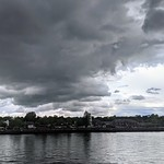 Dark clouds over Preston Docks
