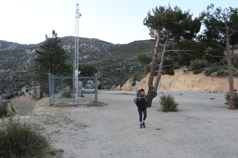 We started the hike on Angeles Forest Highway and Mount Gleason Road at the Mill Creek Summit