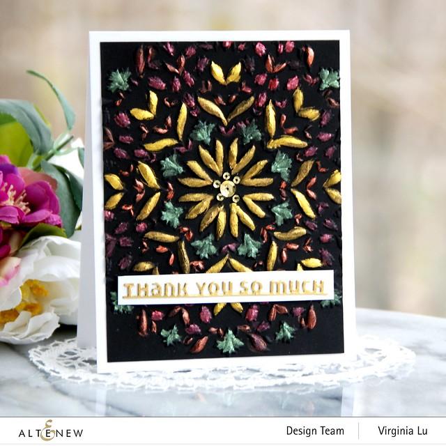 Altenew-Charming Mandala 3D Embossing Folder-Slim Sentiment Die Set-Metallic Watercolor 14 Pan Set (2)