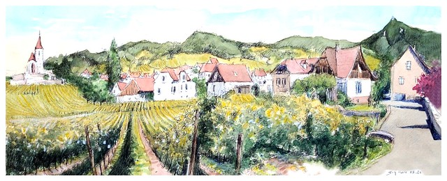 Hunawihr - Alsace - France - vignoble