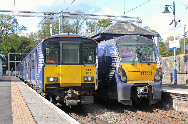 318268 and 334003 Milngavie Station