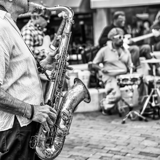 The street band in Harvard street