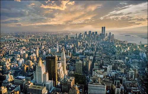 nyc newyork manhattan wtc film scan slide empirestatebuilding view sky