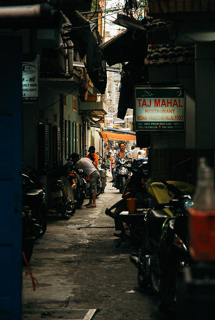 Back alley in Ho Chi Minh City, Vietnam