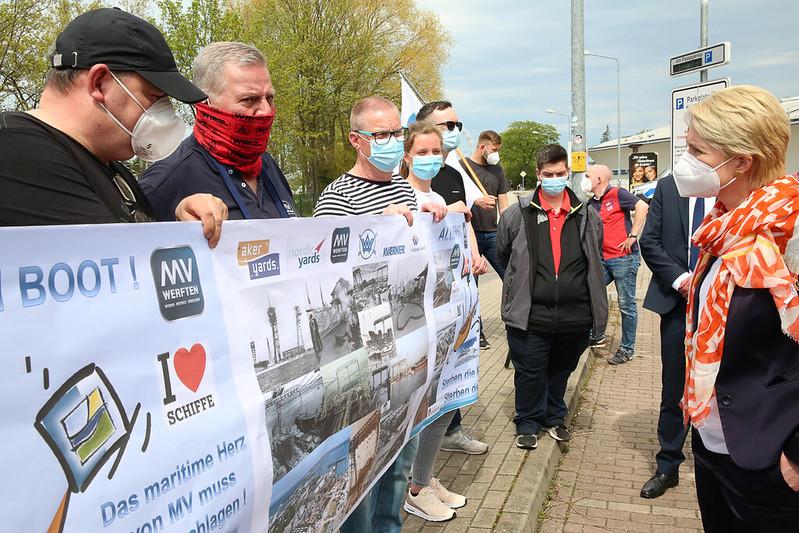 Nationale Maritime Konferenz: Proteste der IG Metall K?ste
