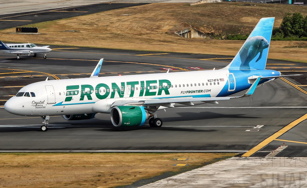 """Frontier Airlines""""Crystal The Florida Manatee""""/Airbus A320-251'NEO'/N374FR"""