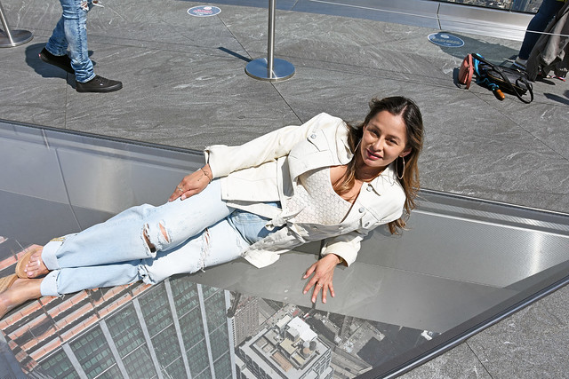 Picture Of Carolina Taken At The Edge At 30 Hudson Yards In New York City. The Edge Is The Highest Outdoor Skydeck In New York City At  Over 1,100 Feet Above Ground Level. Photo Sunday Taken May 2, 2021