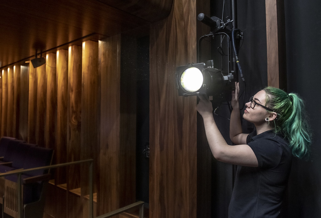 Lauren-Holly Cooper, Creative Venue Technician ©2019 ROH. Photograph by Sim Canetty-Clarke