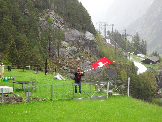The man with the Swiss flag