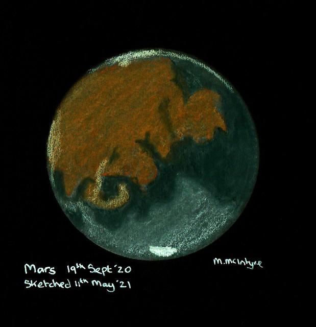 Mars Pastel Sketch