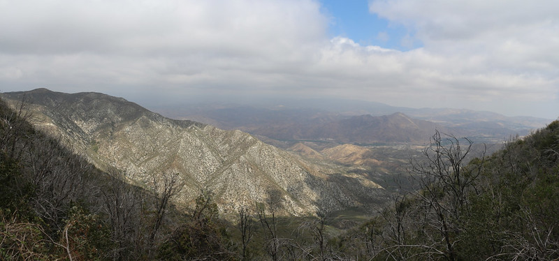 Panorama view north over Mill Canyon from the trail just east of the North Fork Ranger Station