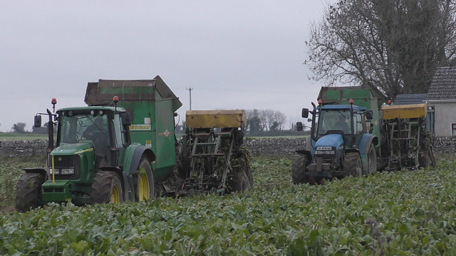 John Deere 6920 Tractor & New Holland TM155 with Armer Salmon Beever Twin Row Beet Harvesters