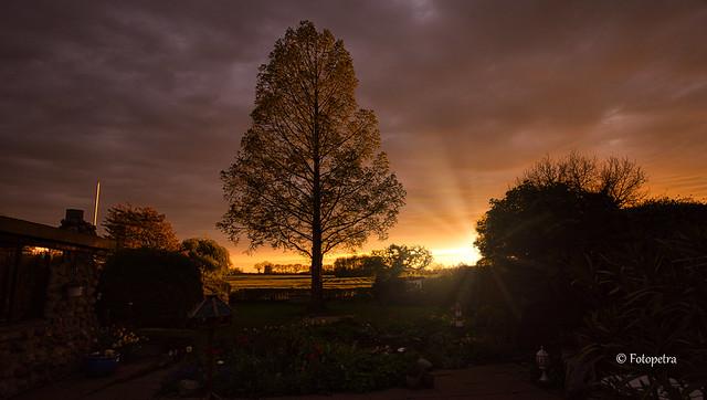 Abendlicht,Sonnenuntergang am 10.Mai 2021