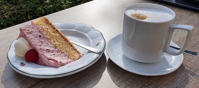 Coffee break at Ettal Abbey's Café