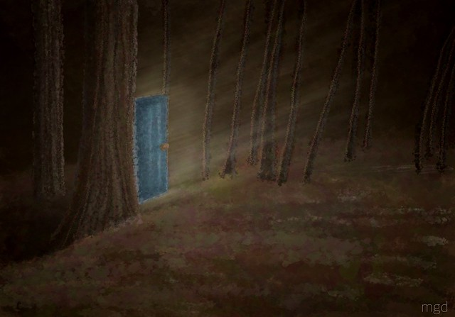 See the forest for a door.