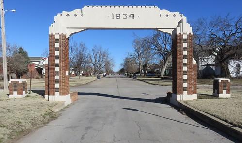 oklahoma ok greatplains archways randlettpark caddocounty anadarko northamerica unitedstates us