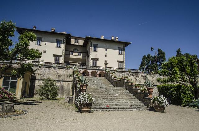 Villa Medici in Poggio a Caiano seen from the garden