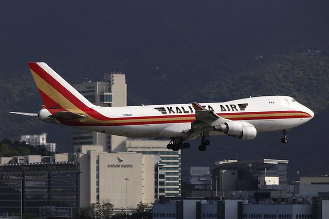 N706CK, Boeing 747-400F, Kalitta Air, Hong Kong