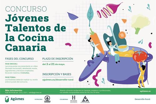Cartel del Concurso Jóvenes Talentos de la Cocina Canaria
