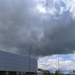 Huge stormy clouds over Ashton, Preston