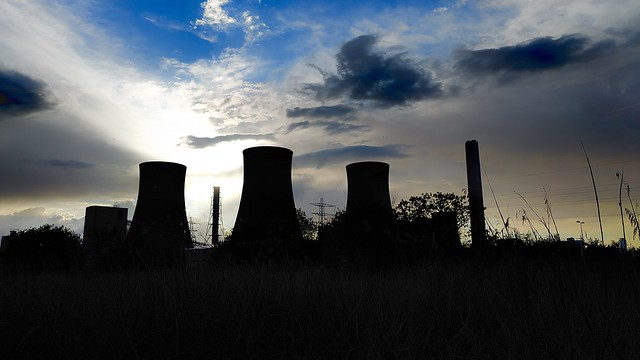 Industrial Silhouette Fiddlers Ferry Power Station