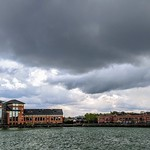 Storm over Preston Docks