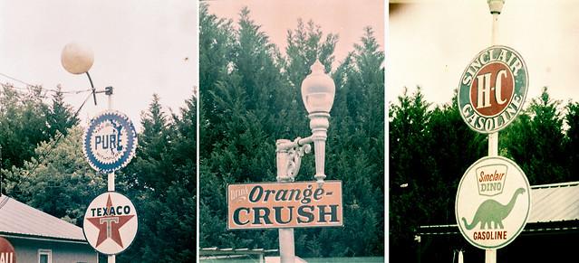 Vintage Sign Triptych  - 110 version