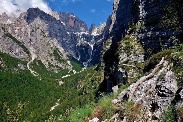 ITALIEN, Italy, Vom Pradel  Richtung Brenta-Gebirge(Dolomiten),  Croz de Altissimo, 79063/13674