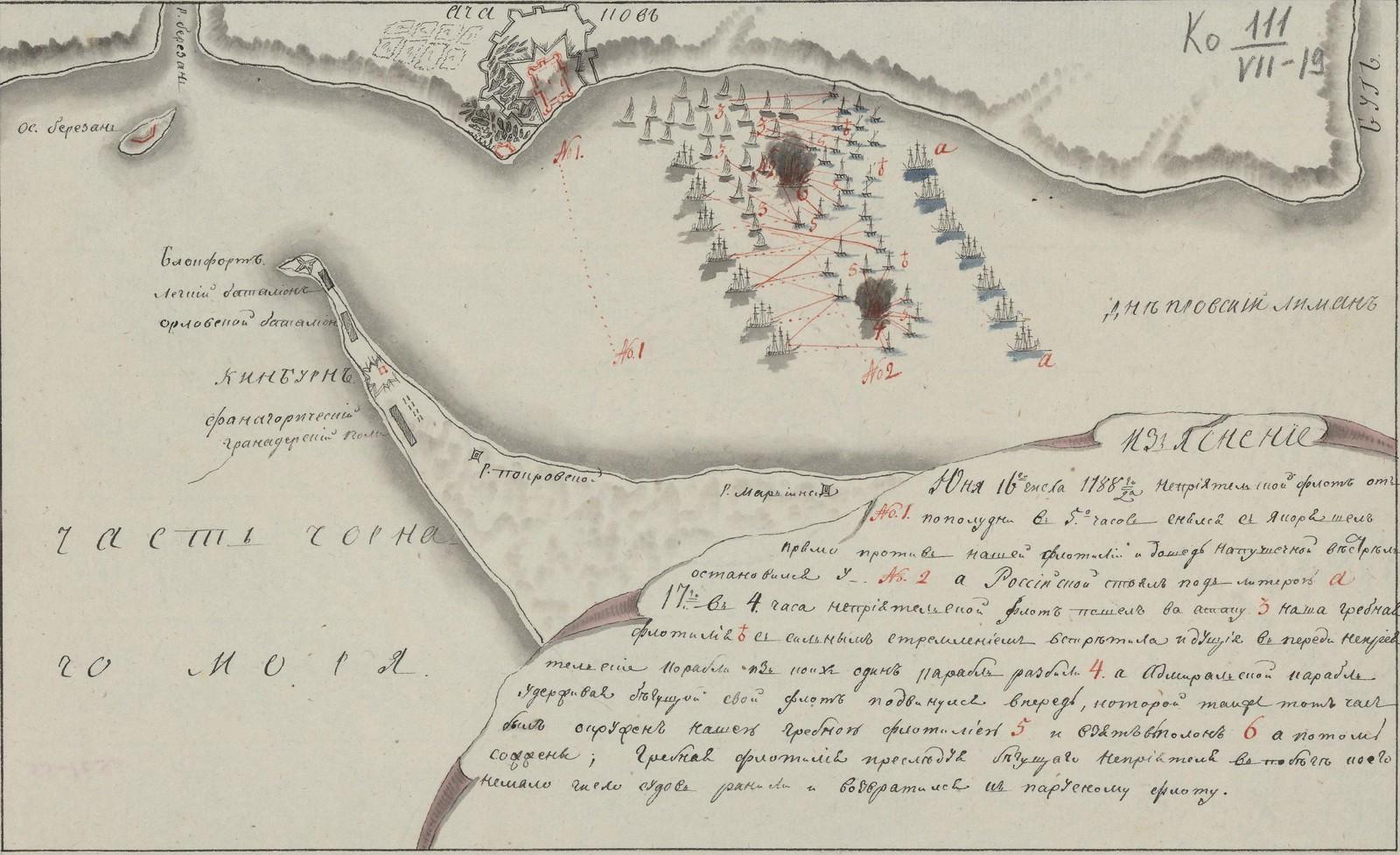 Черное море. Юня 16-го числа 1788 года Неприятельский флот