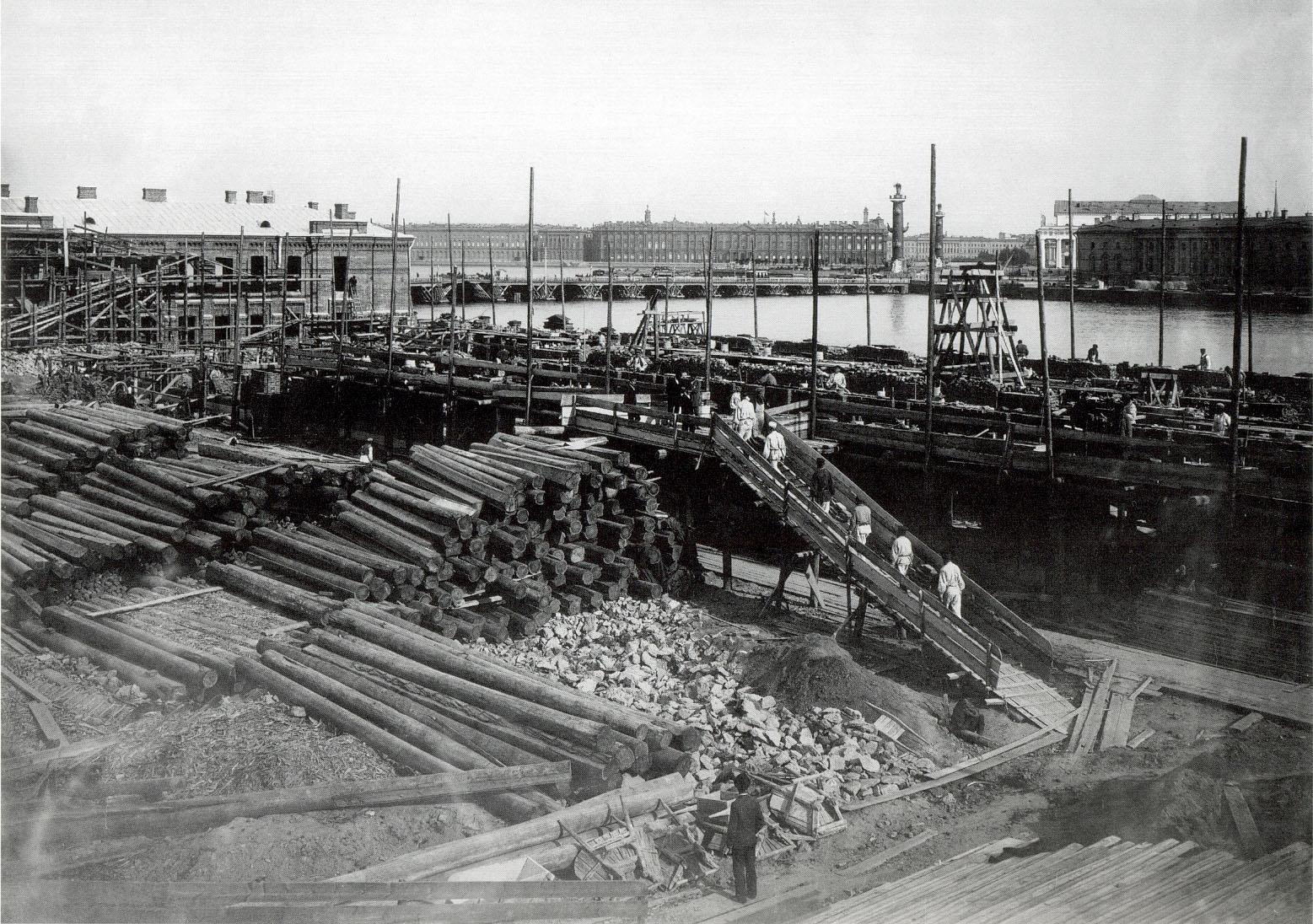 1896. Ватный остров. Строительство второго казённого винного склада