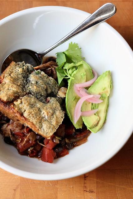 chicken-chili tamale pie