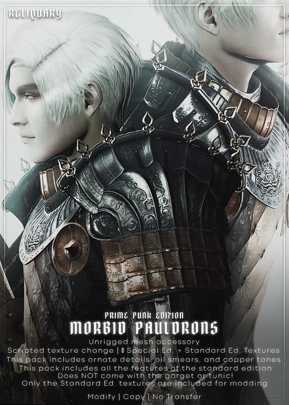 !R! Morbid Pauldrons Prime Punk Ed. CELEBRATING PRIME PUNK @ !RELIQUARY! MAY 13TH 2021