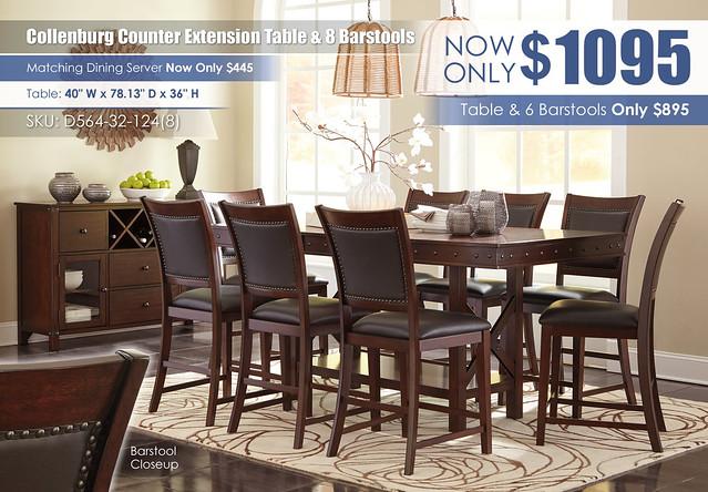 Collenburg Dining Set w8 Chairs D564-32-124(8)-60-R4400151_Update