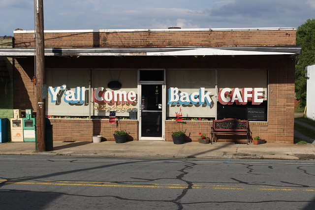 Y'all Come Back Cafe, Liberty, NC