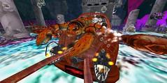 Captain Sam pilots Lobster Bus  at Paer Thura, Fantasy Faire 2021