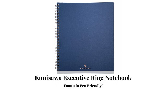 Kunisawa Executive Ring Notebook - Fountain Pen Friendly!