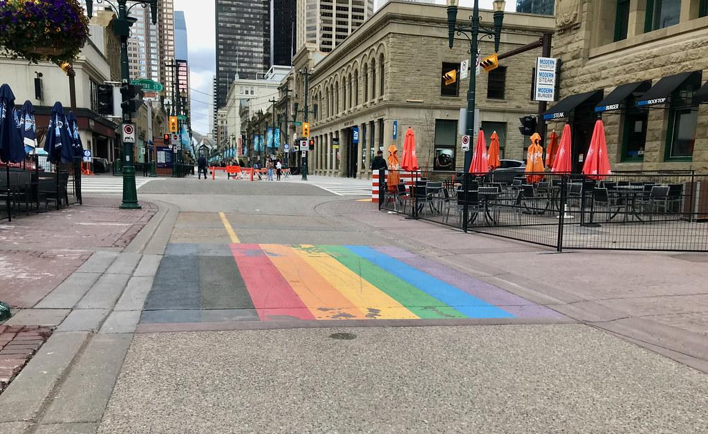 Calgary Downtown Pride Crossing