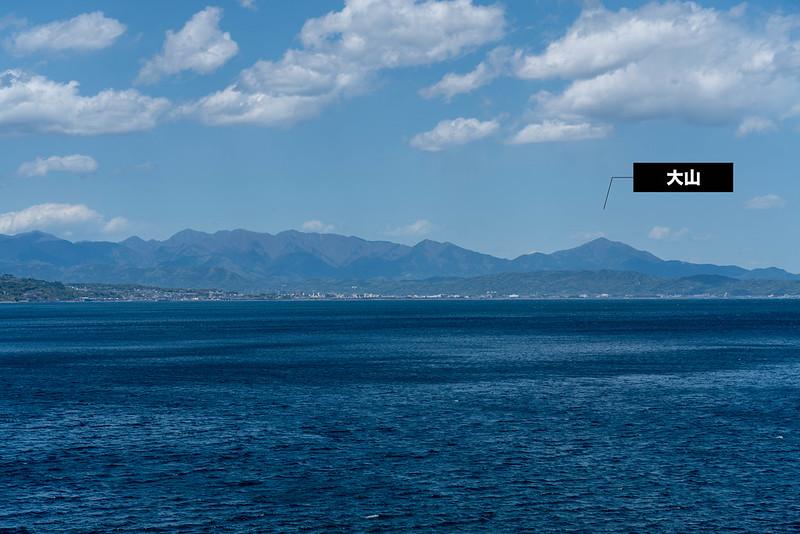 真鶴半島から見える丹沢